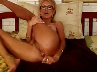 Amateur Anal Ass Blonde Cum Cumshot Dildo Glasses