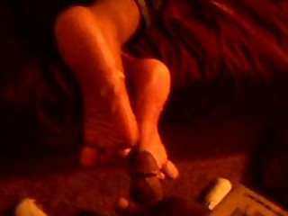 Bukkake Cum Cumshot Ebony Foot Fetish Footjob Hot Mammy
