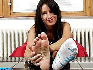 Babe Brunette Feet Fetish Foot Fetish Footjob Licking Little