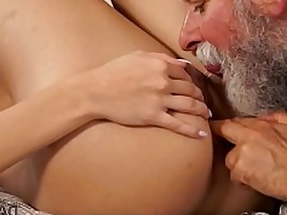 18-21 Blowjob Daddy HD Licking Mature Old and Young Teen