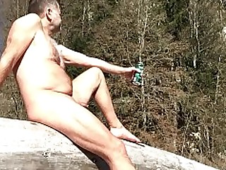Big Cock Daddy Little Mature Natural Nude Outdoor Playing