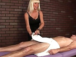 Ass Handjob Jerking Massage Mature MILF Slave Mistress