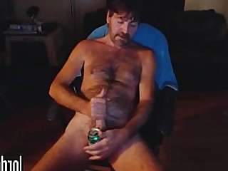 Amateur Daddy Hairy Homemade Masturbation Solo Webcam