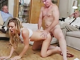 Blonde Blowjob Daddy Gang Bang Innocent Natural Old and Young Shower